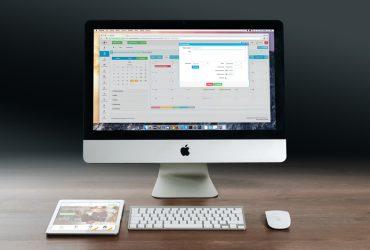 En datorskärm med ett program