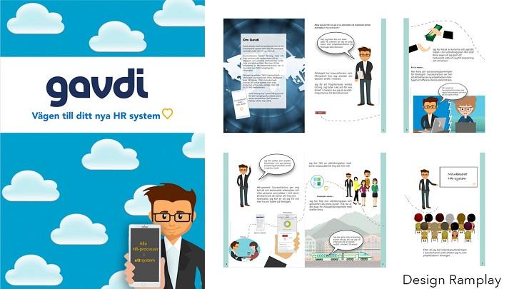 Gavdi uppdrag design av broschyr