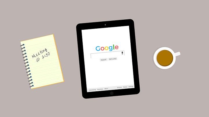 Google på en surfplatta för bättre marknadsföring