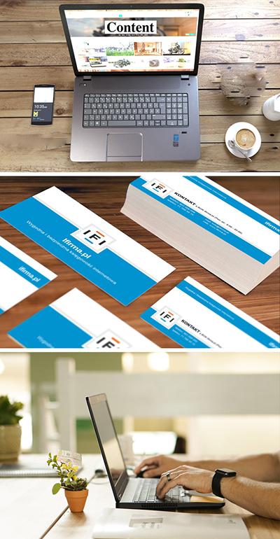 Design av visitkort, broshyrer och hemsida